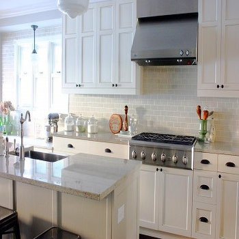 White Granite Countertops, Transitional, kitchen, KItchen Lab