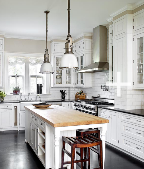 Butcher Block Island - Cottage - kitchen - Michael Robinson