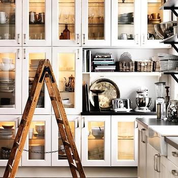 Ikea - kitchens - ikea kitchen, ikea cabinets, ikea kitchen cabinets, floor to ceiling cabinets, floor to ceiling kitchen cabinets, kitchen ladder, glass front kitchen cabinets,