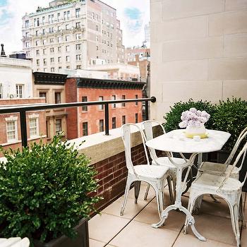 Tolix Cafe Chair, Contemporary, deck/patio, Lonny Magazine