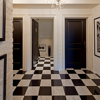entrances/foyers - black and white floor, black and white marble floor, black and white marble tiled floor, foyer floor, checkered floor, checkered marble floor,