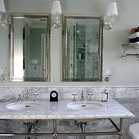 KItchen Lab - bathrooms - double sinks, marble tile, modern, minimalistic.,  bathroom