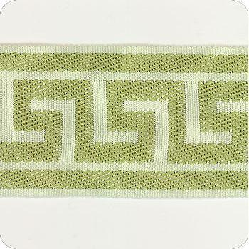 Fabrics - Discount Designer Fabric - LS Fabrics - green, greek key, trim