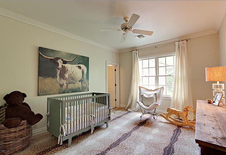 Green Crib Country Nursery Cote De Texas