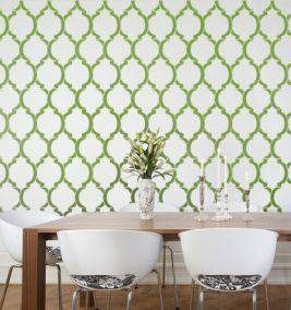 Art/Wall Decor - Moroccan stencils, wall stencil designs, large stencils for easy decor - green, moroccan, wall stencil