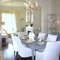 dining rooms - Benjamin Moore Monterey White, yellow, gray, dining, transitional,  The rooms we designed for the 2010 Acadiana Symphony Showhouse