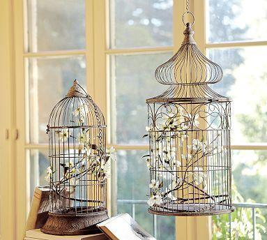 Decor/Accessories - Decorative Hanging Birdcages | Pottery Barn - decorative, bird cages