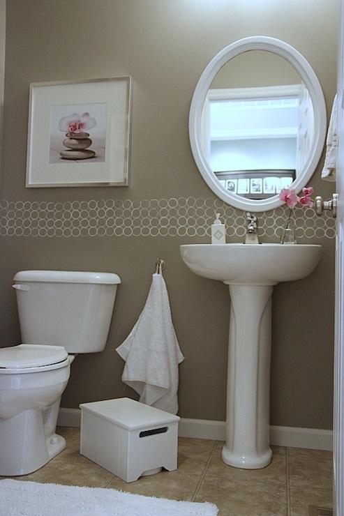 Taupe Paint Contemporary Bathroom Valspar Magic