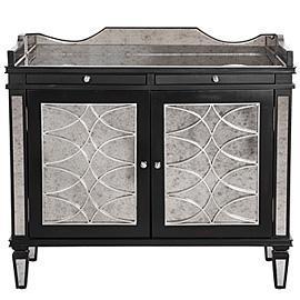 Storage Furniture - Z Gallerie - Salvatore Antiqued Mirrored Bar Cabinet - antiqued mirrored bar cabinet, mirrored bar cabinet
