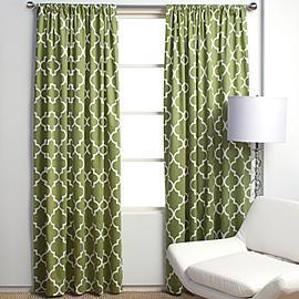 Window Treatments - Z Gallerie - Mimosa Panels - Apple Green - moroccan, tiles, drapes