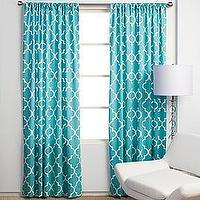 Window Treatments - Z Gallerie - Mimosa Panels - Aquamarine - blue, moroccan, tiles, drapes