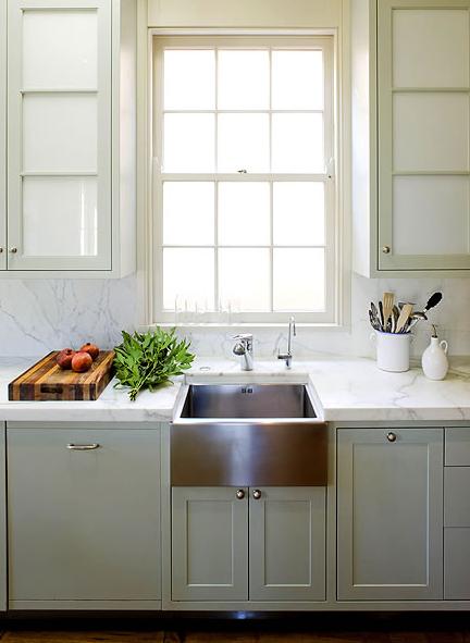 stainless steel apron sink contemporary kitchen thomas hamel