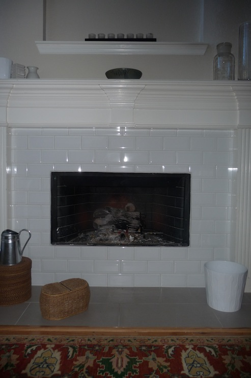 Glass Subway Tile Fireplace Miscellaneous Subway Tiles