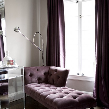Purple Chaise Lounge, Contemporary, bedroom, Amoroso Design
