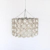Lighting - worlds away peony capiz shell chandelier modern li - peony, capiz, pendant, chandelier