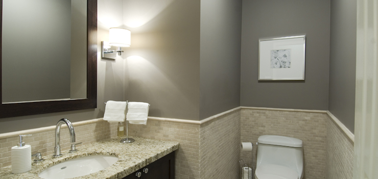 Bathrooms with Gray Walls, Contemporary, bathroom, Benjamin Moore Metropolis, BiglarKinyan Design