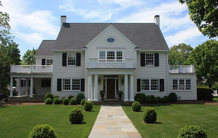 Suzie: Alisberg Parker Architects  Gorgeous colonial home with black shutters, gray shingles, ...