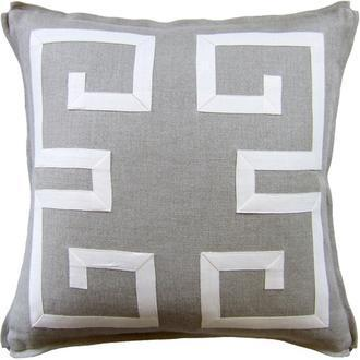 Greek Key Fretwork pillow, Shop Greige