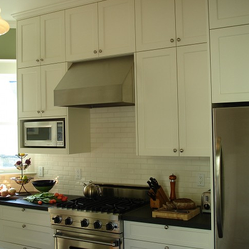 Boor Bridges Architecture - kitchens - cream cabinets, cream kitchen cabinets, cream shaker cabinets, cream shaker kitchen cabinets, cream subway tile, cream subway tile backsplash microwave nook,