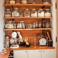 kitchens - kitchen, white, shelving, storage,  Via http://www.thekitchn.com/thekitchn/kitchen-tour-lupineanddans-organized-kitchen-131360