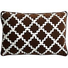 Pillows - Pier 1 Imports - Velvet Ric Rac Pillow - velvet, lattice, pillow