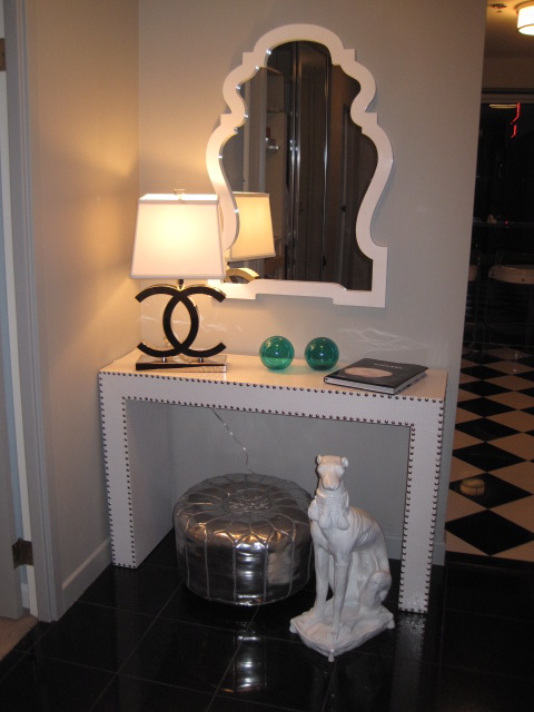 Chanel Lamp Contemporary Entrance Foyer