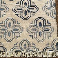 Rugs - Alhambra Tile Dhurrie Rug | Pottery Barn - blue, tile, dhurrie, rug