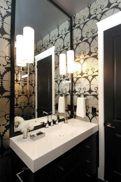 metallic wallpaper modern. black metallic wallpaper