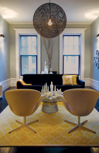 Yellow Trellis Rug Contemporary Living Room Graham Moss