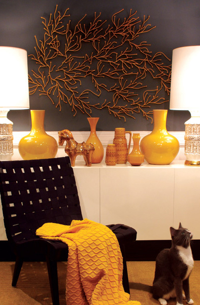 Yellow Foyer Ideas : Yellow vase contemporary entrance foyer graham moss