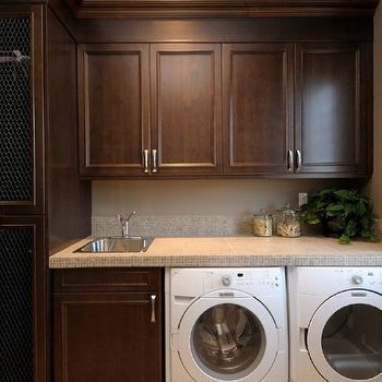 Chocolate Brown Cabinets, Traditional, laundry room, Atmosphere Interior Design