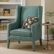 Seating - Grandin Road - bromley, wingback, chair, nailhead trim