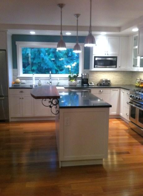 kitchens  Benjamin Moore Aegan Teal, island, white, kitchen, Kitchen