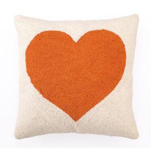 Pillows - Sweetheart Hook Pillow in Orange Modern Chic Home - orange, sweetheart, pillow
