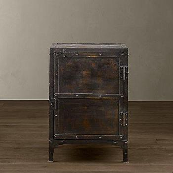 Industrial Tool Chest, Side & Item Tables, Restoration Hardware