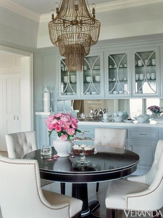 Arteriors maxim chandelier transitional dining room benjamin moore boothbay gray - Veranda dining rooms ...