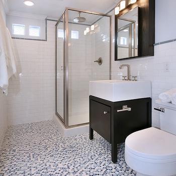 Blue Penny Tiles, Contemporary, bathroom, Natalie Umbert