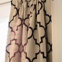 Window Treatments - Pair of Decorative Designer Rod Top Drapery Panels102 by nenavon - chocolate, moorish tiles, drapes