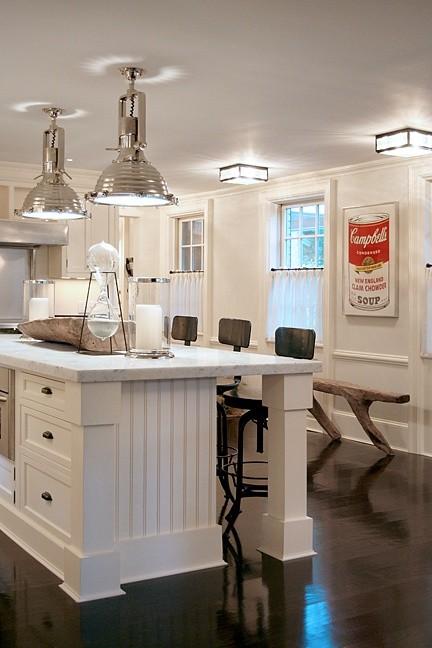 Beadboard Cabinets Contemporary Kitchen Thom Filicia