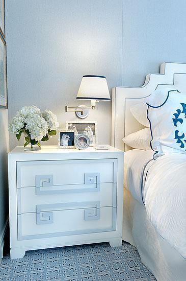 Greek Key Nightstand - Contemporary - bedroom - Christina Murphy