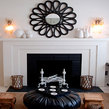 Fireplace Mirror, Contemporary, living room, House of Honey