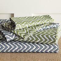 Bedding - Organic Tribal Sheet Set | west elm - chevron, zigzag, sheets, bedding