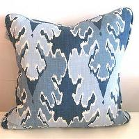 Pillows - Blue Flame Stitch Pillow | Pieces - blue flame, stitch, pillow