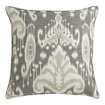 Pillows - Taza 23 - gray, ikat, pillow