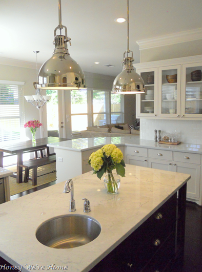 Suzie: honeywerehome.blogspot.com  gorgeous kitchen design with industrial yoke polished chrome ...