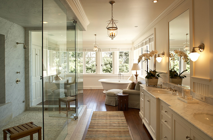 Suzie:  Jean Randazzo Photography  Huge, gorgeus master bathroom design with frameless glass ...