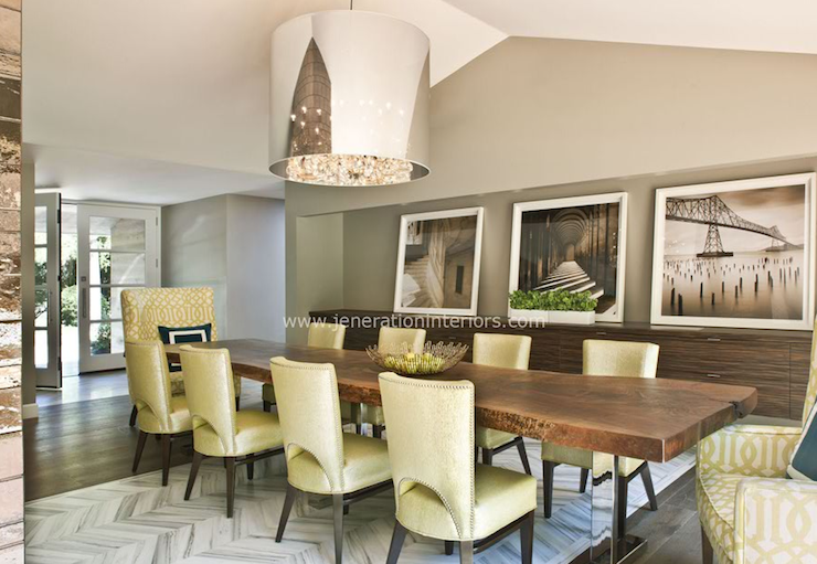 Yellow Dining Chairs - Contemporary - dining room - Jeneration ...