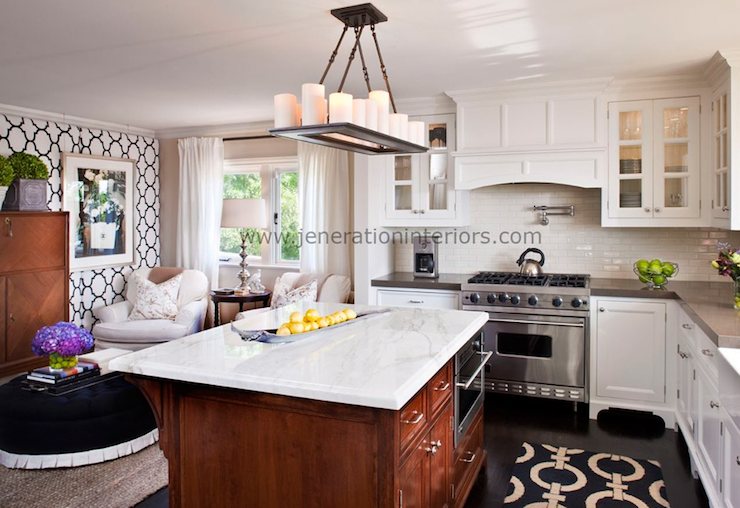 Countertop Wallpaper : Jul 12, 2012 White countertops and kitchen cabinetry can quickly ...