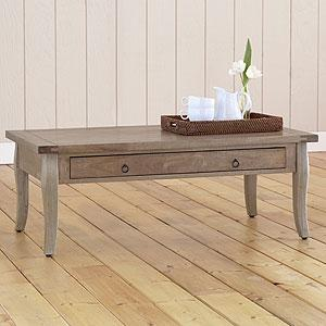 Tables - Grey-Weathered Farmhouse Coffee Table - Tables - Cost Plus World Market - gray, weathered, coffee table