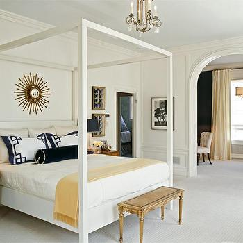 White Canopy Bed, Transitional, bedroom, Tish Key Interior Design